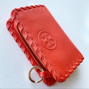 TORY BURCH 'Marion' Whipstitch ZIP Coin Pouch